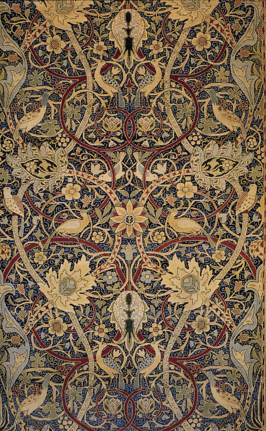 Excerpt of Bullerswood Carpet (1889) by William Morris. I want one of these carpets so badly.