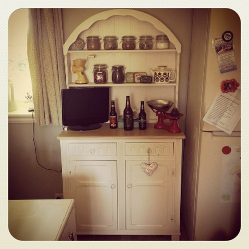This dresser is our very own - excuse the clutter! But we have one very similar just waiting to be painted in a style and colour of your choice #shabbychic #vintage #kitchen #dresser #furniture #reloved  (Taken with Instagram)