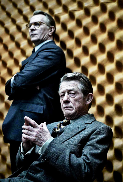 John Hurt and Gary Oldman in a promo still from Tinker Tailor Soldier Spy, 2011