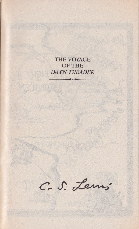 "Just finished ""The Voyage of the Dawn Treader"" Now onto ""The Silver Chair"" the adventure continues…  Lucy: ""Will you tell us how to get into your country from our world?"" Aslan: ""I will be telling you all the time."""