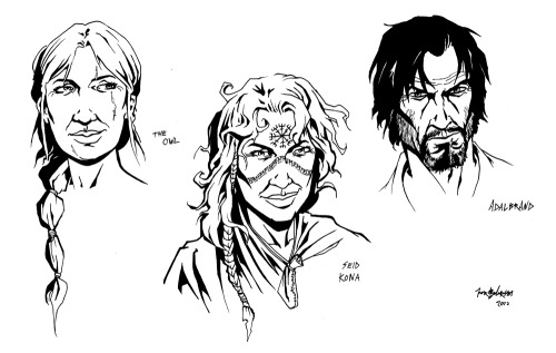 "Some character designs for one of my many ""to-do"" projects… so little time"