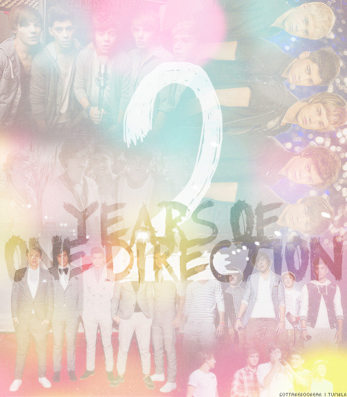 Today,23rd of July at 8:22 pm, 2 years ago, 5 strangers joined their voices and made a succesful band. People belived in their talent and voted for them at the X-Factor,even though they didn't win the show,they won our respect and love. They're always by our sides when we need them through their music and we're always by their's too. They're our inspration.  WE love you so much guys @onedirection! Thanks for everything!                                          #2YearsOf1D