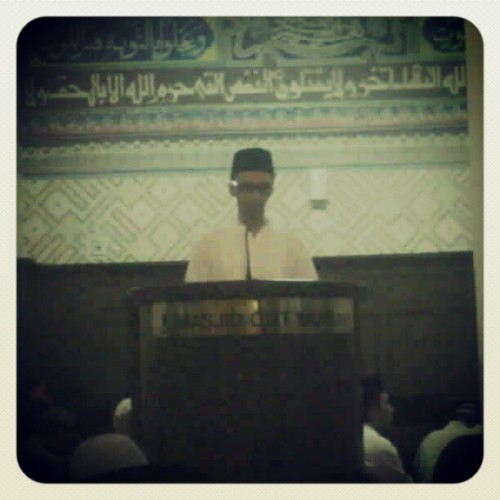 MC Tarawih at Masjid Cut Meutia (Taken with Instagram)