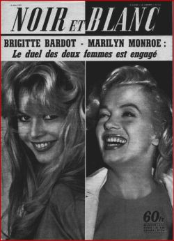 Brigitte Bardot and Marilyn Monroe on a magazine cover