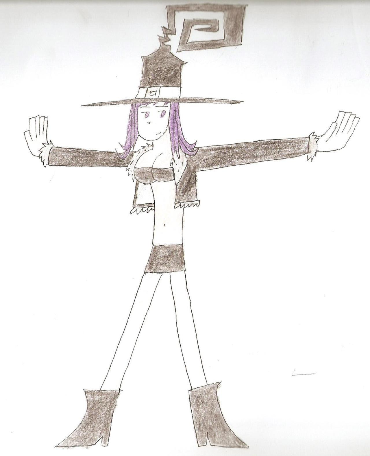 i made this weird drawing of blair from soul eater.