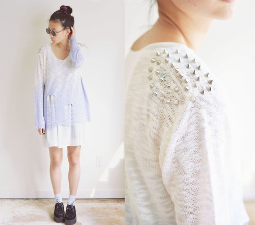 lookbookdotnu:  Creeper jeepers, more studs and some ombre too  (by Alyssa Lau)