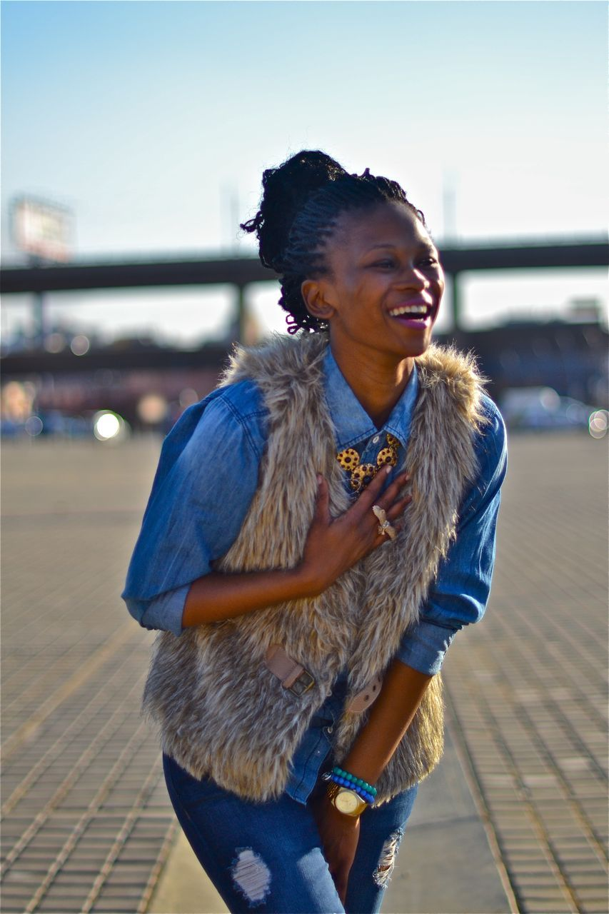 SA STREET STYLE | KHANYI I took these photographs of Khanyi aka Khanyeezy a few weeks ago. I really enjoyed the fur on denim with gold accessories. Photographed by: The Expressionist