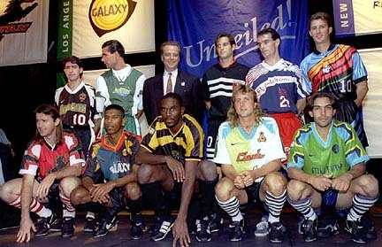 The inaugural MLS kit launch (made awkward by the kit choices)…