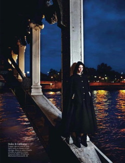 Aymeline Valade in Dolce&Gabbana for Vogue France, August 2012