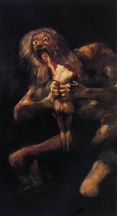 Saturn devouring one of his children, Goya: stunningly powerful image