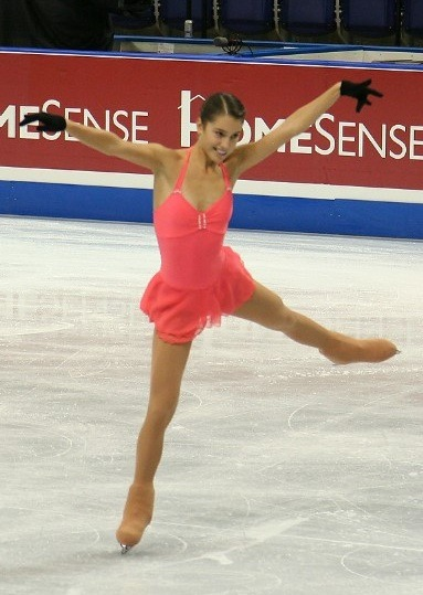 Alissa Czisny practising at the 2006 Skate Canada. Photo by Caroline Paré.