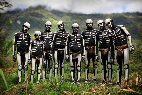 New Guinea Skeleton Tribe by Timothy Allen.