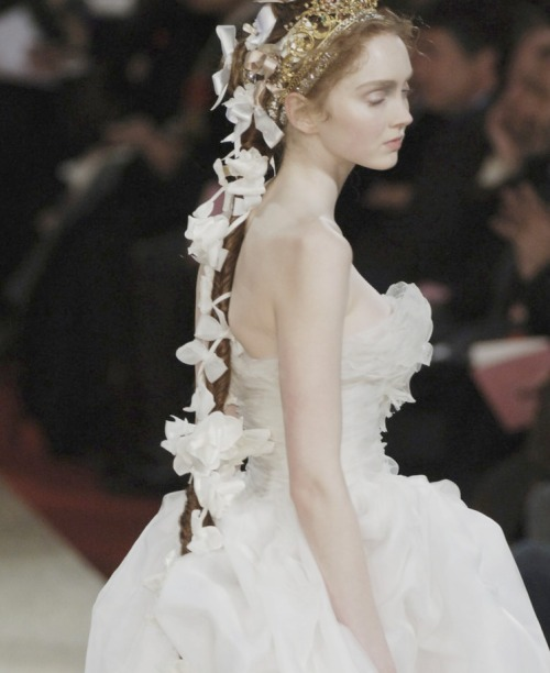 the-front-row:  Lily cole at Christian Lacroix Couture Spring/Summer 2006