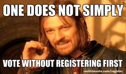 Register to vote today http://bit.ly/O4BVF4