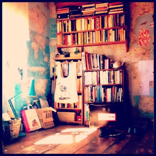 bettertastethanthou:  My room #books #bookcase #anglepoiselamp #maps #hunter #floorboards #happiness :] (Taken with Instagram)  A gorgeous room!