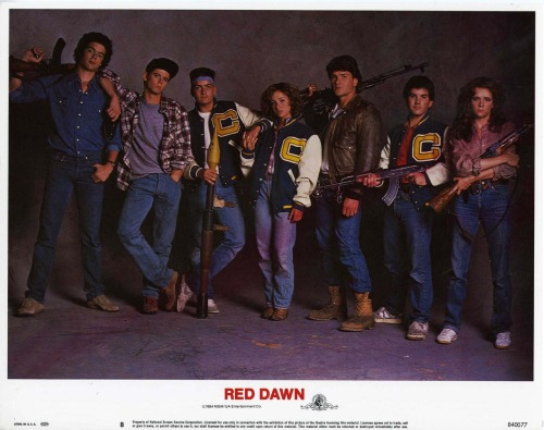 lobbycards:  Red Dawn, US lobby card. 1984