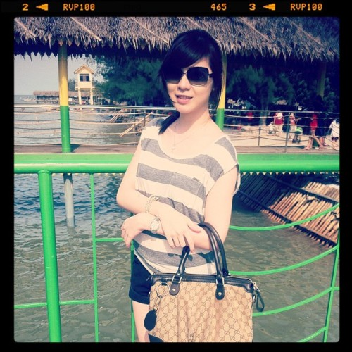 #beach #medan #me #natural #asian #lady #gucci #girl #holiday #medan  (Taken with Instagram at pantai indah permai)