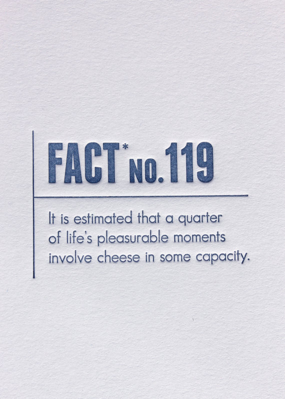 handcraftedinvirginia:  Made Up Stats Letterpress Facts are usually true, so I never question anybody when they start referencing them. This collection of some of the most interesting facts in history come to you from the minds at Made Up Stats, which seems totally legit to me. The cards are available from Sapling Press' etsy.