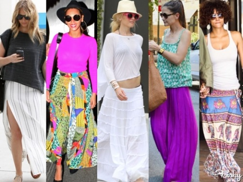See how the stars are wearing the Maxi Skirt trend HERE!