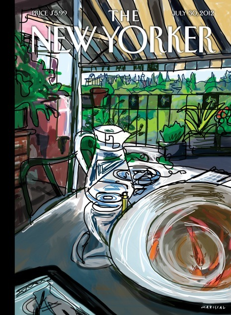 This week's New Yorker cover, by Javier Mariscal