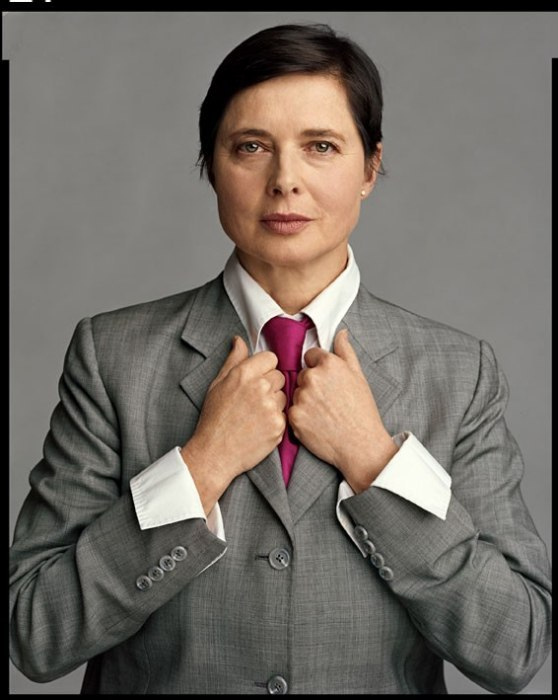 "vanityfair:  Isabella Rossellini | Supermodel, actress, and the face of Lancôme for 14 years. Also known for her guest appearance on 30 Rock and the heated divorce scene with Jack Donaghy that resulted in this memorable line: ""Oh, dammit Johnny, you know I love my Big Beef and Cheddar!"" Photograph by  Timothy Greenfield-Sanders for About Face: Supermodels Then and Now"