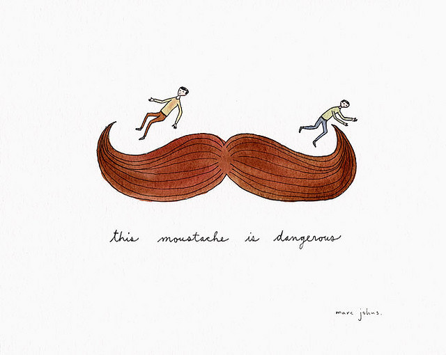 this moustache is dangerous by Marc Johns on Flickr.