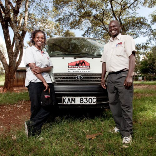 Regina and James sell irrigation pumps to small farmers in rural Kenya at affordable prices, helping these farmers to increase their crop yield, increase their income, and help both their families and their communities. Learn more about the impact that Regina, James, and these irrigation pumps have, at www.theadventureproject.org.