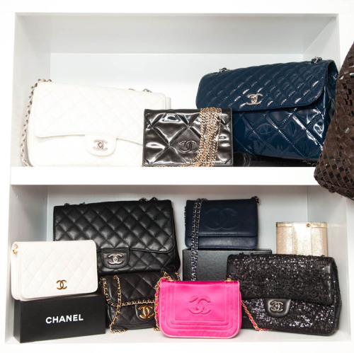 labellefabuleuse:  Real Housewife of Beverly Hills Kyle Richards Chanel bag collection photographed by The Coveteur   Chanel