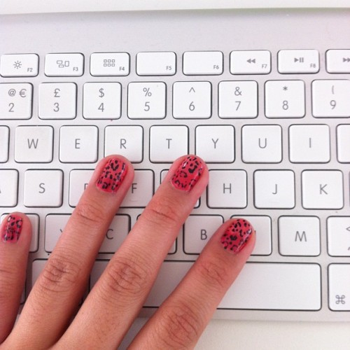 Also getting into the @wahnails spirit with some #nailart! (Taken with Instagram)
