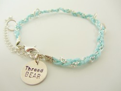 The friendship bracelet in aqua and silver is back in stock! Get it here …or if you prefer etsy, here!