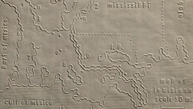 Embossed Maps! (via Tactile maps from an 1830s atlas for the blind)