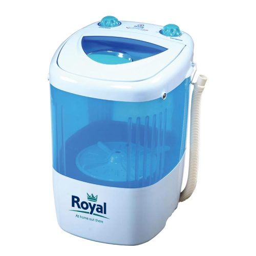 Now available at Leisure Outlet, the Royal Single-Tub Travel Washing Machine. Perfect for campsites, caravans, motorhomes, bedsits, student housing or felting and dyeing, this convenient single-tub washing machine washes up to 1.5kg of dry clothing and easily fits on your draining board. The Royal Single-Tub Travel Washing Machine is available now for £27.99 - a full 63% off of the recommended retail price.