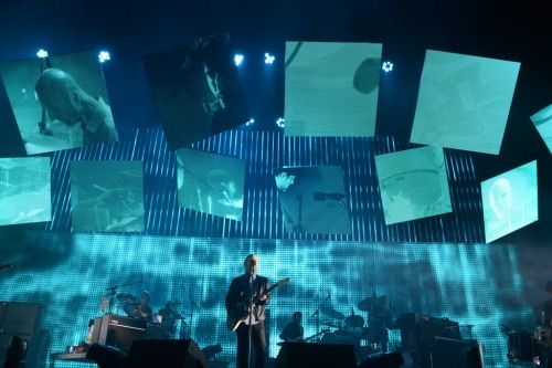 Radiohead performing at Bonnaroo 2012