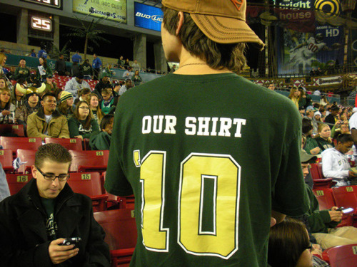 Campus TraditionThe Our Shirt campaign began in 2007 as a way to draw attention to the USF student section during football games. Each year, USF students create and submit new Our Shirt design ideas. The student body votes for their favorite design and the winning shirt is worn by USF fans at all athletic events.