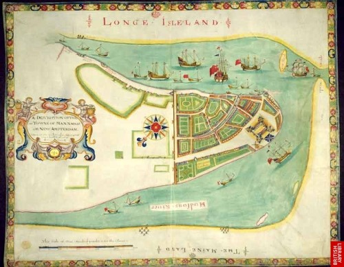 myimaginarybrooklyn:  The Duke's Plan, a 16th century map of New York reproduced in the 1859 edition of the Valentine Manuals (image: British Library)