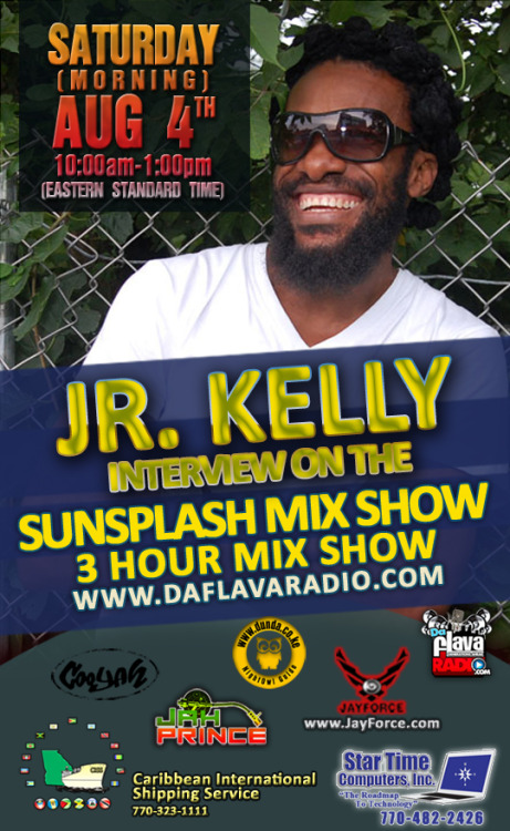 Sunsplash Mix Show: Junior Kelly Interview with @JahPrince c/o Triple T Production www.DaFlavaRadio.com/index.php - CLICK LISTEN LIVE Listen on Mobile Phones: http://bit.ly/ListenDaFlavaRadioOnPhones