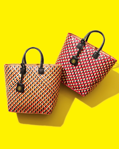 Tory Burch knows the perfect way to take your summer tote beyond just the beach. Tory Burch straw tote, $130, Neimanmarcus.com