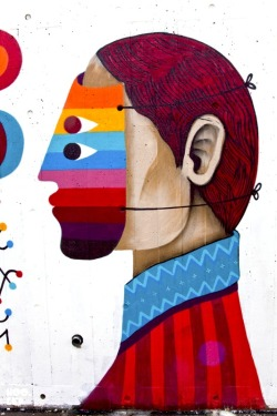 Colorful Decorative Street Art by Remed & Saner for Wahaca