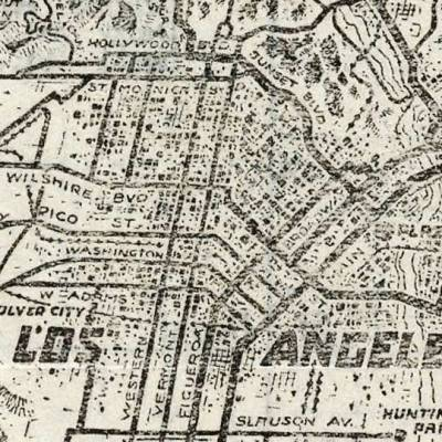 Map: Motorist Maps Of Southern California (1923) originally posted to the BIG Map Blog.