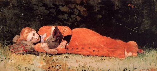Winslow Homer, The New Novel, 1877.