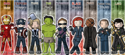 sambeawesome:  Avengers: Bookmarks Assembled by *wondering-souls
