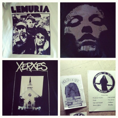 I got a #lemuria shirt for six dollars yesterday so that cool. I also got a #converge #janedoe and #xerxes shirt. Also issue 1&2 of Mouth X Off. Yesterday was just really cool my shitty weekend ended perfect. (Taken with Instagram)