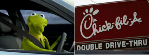 Kermit has our back.  'Muppets' makers sever ties with anti-gay Chick-fil-A.