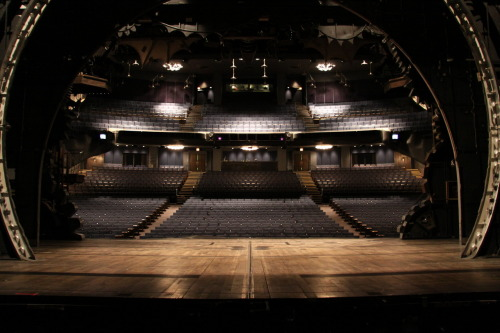 defyallgravity:  Beautiful picture of the Gershwin Theatre from the stage of Wicked.