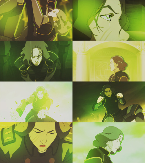 lin beifong in green (requested by screams-flails-dies-etc)