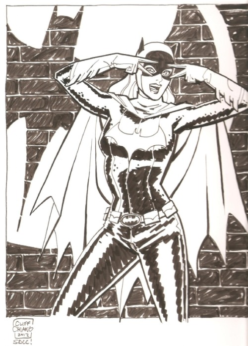 dcwomenkickingass:  fyeahbatgirl:  Batgirl by Cliff Chiang  Not just a Cliff Chiang Batgirl but a Cliff Chiang Batgirl doing the Batusi. And that's like perfect.
