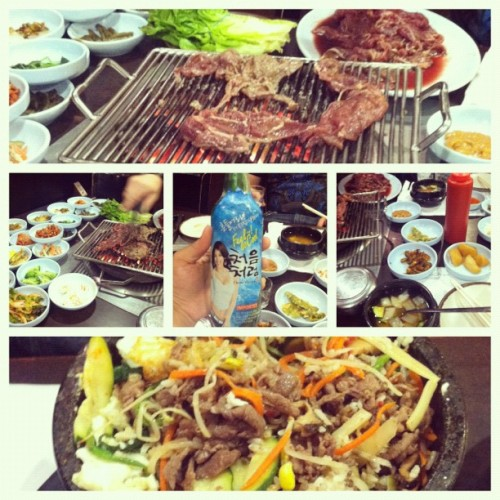 Birthday Dinner! San Soo Gab San <3 (Taken with Instagram)