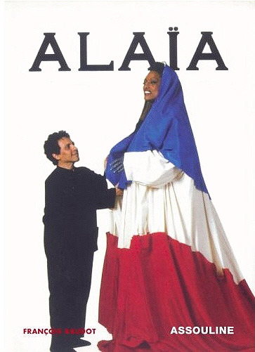 """Alaïa, monograph by François Boudot (New York: Assouline, 2007), showing Alaïa and opera singer Jessye Norman in the costume he designed for her for the Bicentennial of the French Revolution."" (Wiki.org)"