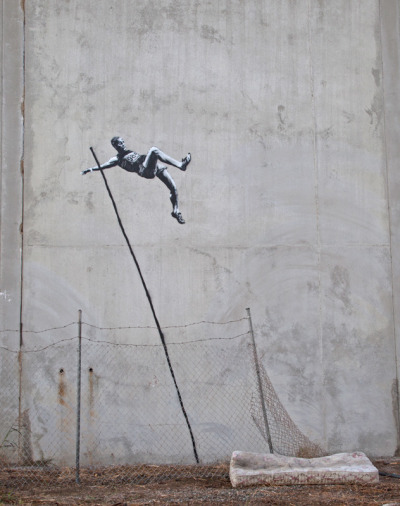 Banksy's Olympic Art  theatlantic:  Will London Really Erase Banksy's New Olympics Art?