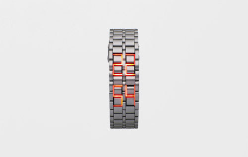 A faceless watch?! This new design concept embraces simplicity and LEDs for a minimalistic look.